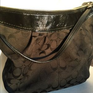 Stunning, authentic, sexy, black Coach Tote